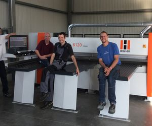Reference customer for HOLZHER TECTRA horizontal panel saw