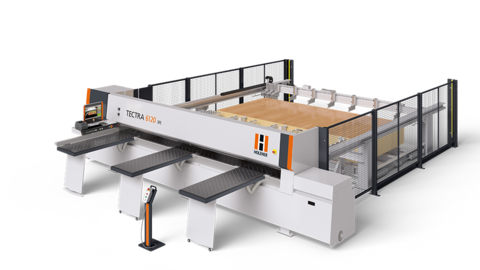 The panel saw HOLZ-HER TECTRA lift with its massive lifting table is the solution for series production